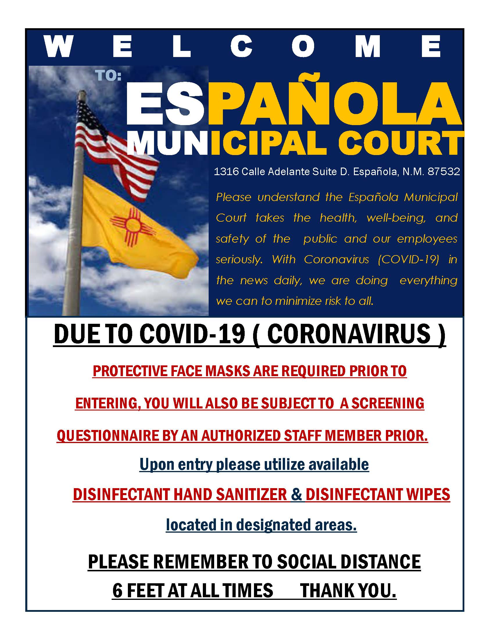 3  Municipal Court Website info COVID-19