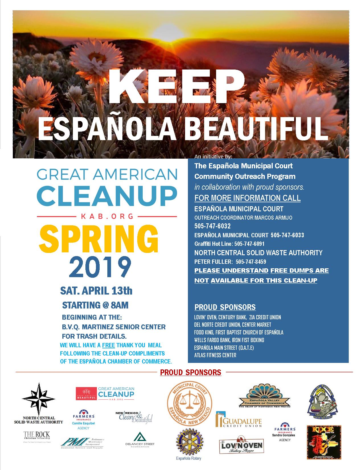 SPRING CLEAN UP FLYER 2019