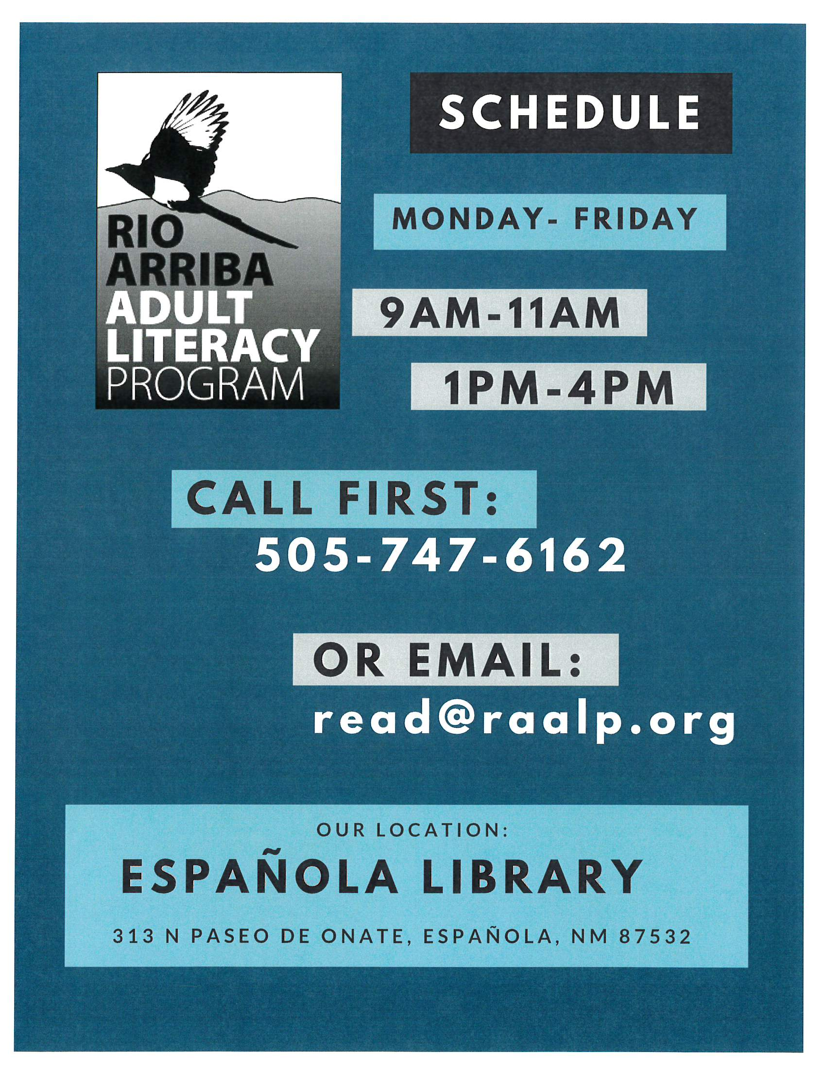 Rio Arriba Adult Literacy Program